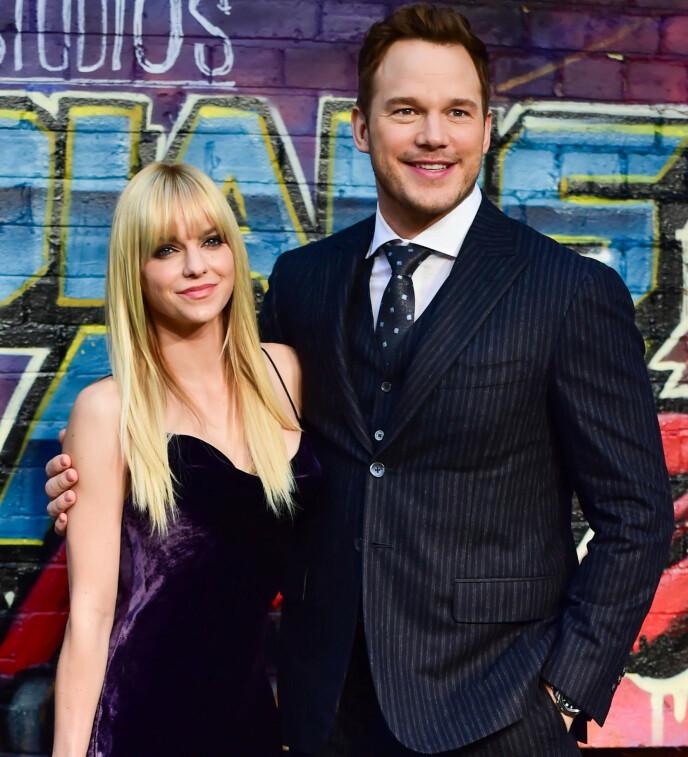 SKILT: Anna Faris var tidligere gift med Chris Pratt. Her er eksparet avbildet i 2017. Foto: Joanne Davidson / REX / NTB