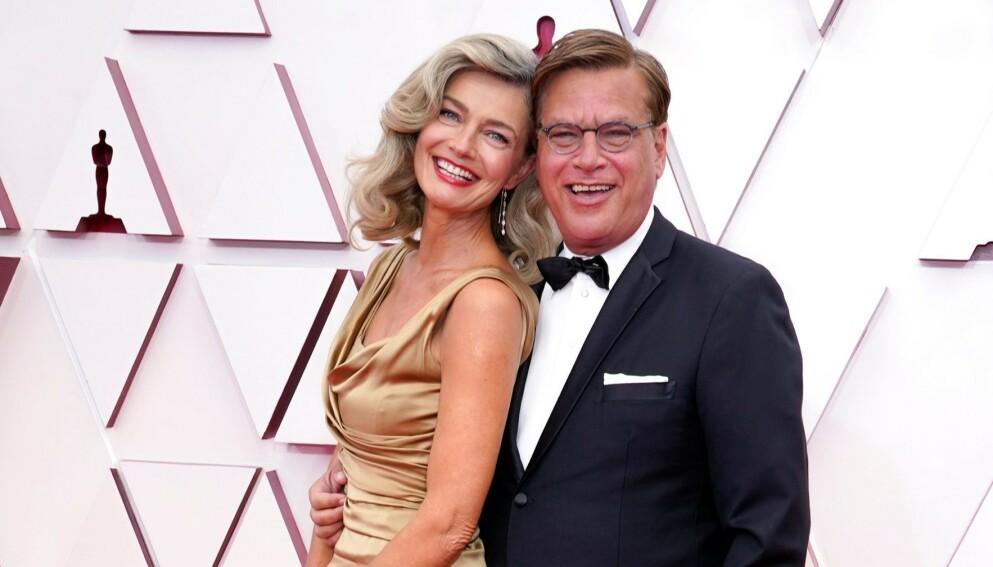 BRUDD: Supermodell Paulina Porizkova og manusforfatter Aaron Sorkin bekreftet brudd for få dager siden. Nå har modellen fått trøbbel i datinglivet. Foto: Chris Pizzello / Shutterstock / NTB