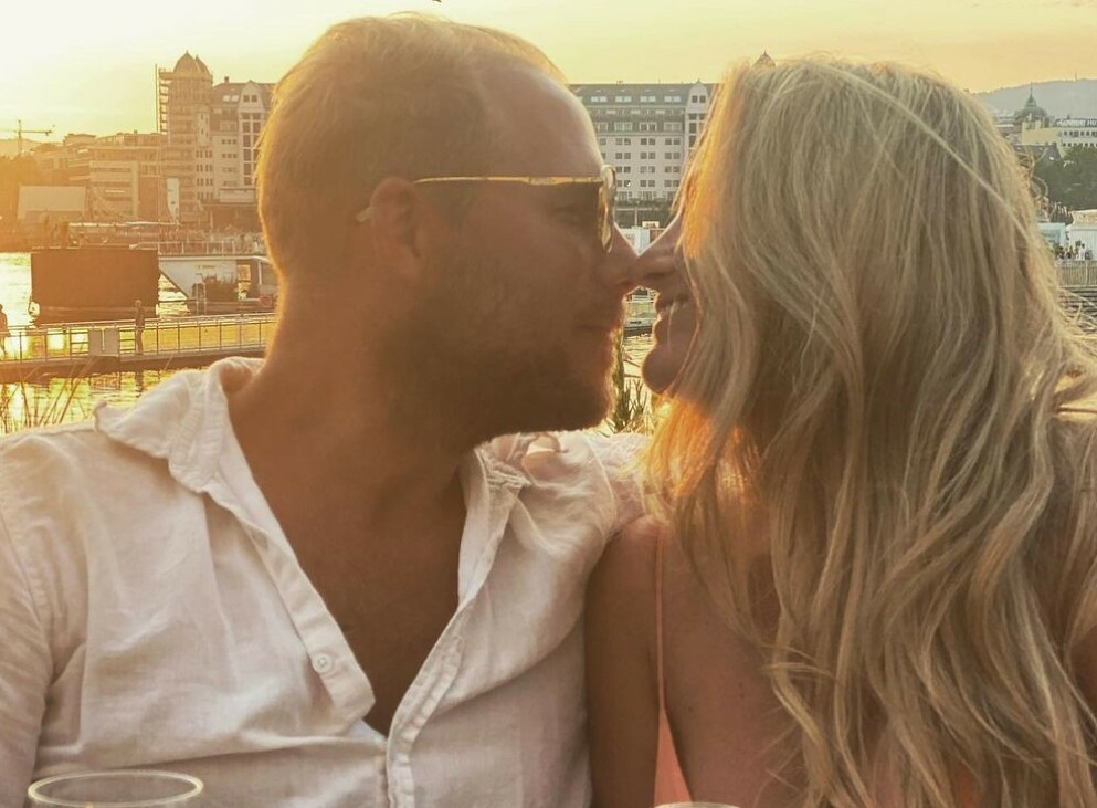 FANT LYKKEN: Dette er Ingebjørg Monique Harams nye kjæreste. Han ønsker ikke å stå frem med navn. Foto: Privat