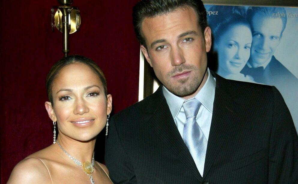 FANT SAMMEN IGJEN: Dette bildet av Jennifer Lopez og Ben Affleck er tatt i desember 2002 - første gang de var kjærester. Foto: Matt Baron / BEI / REX / NTB
