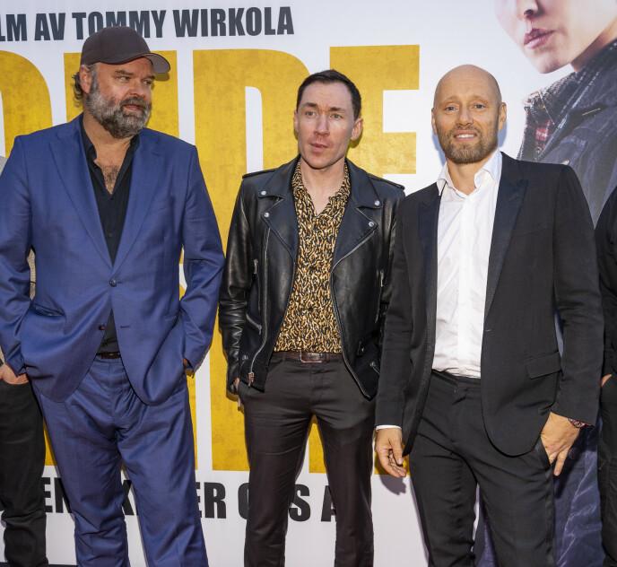 FESTPREMIERE: Atle Antonsen, Stig Frode Henriksen og Aksel Hennie. Foto: Tor Lindseth / Se og Hør