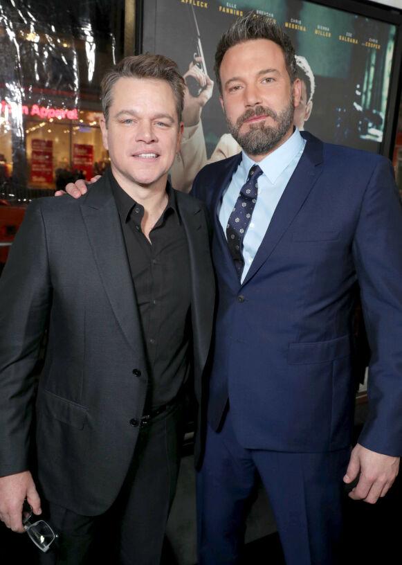 GODE VENNER: Matt Damon er veldig glad på Jennifer Lopez og Ben Afflecks vegne. Foto: Eric Charbonneau / REX / NTB