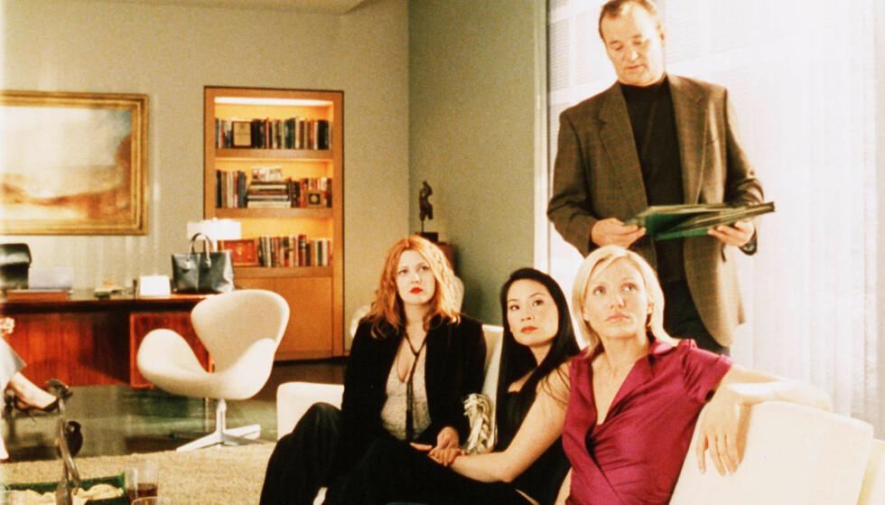 TURBULENT: Det var ikke bare god stemning mellom Drew Barrymore, Bill Murray, Lucy Liu og Cameron Diaz da de spilte inn «Charlie's Angels». Foto: Columbia/Kobal/REX/NTB