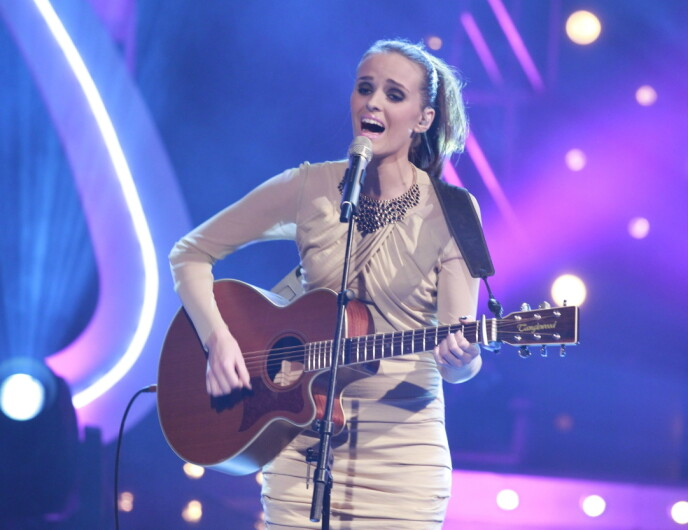 TIL TOPPS: Jenny Langlo vant «Idol» i 2011. Foto: Terje Bendiksby / NTB