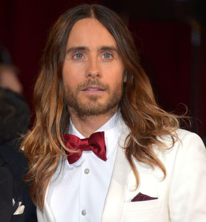 2014: Det er slik man er vant til å se superstjernen Jared Leto. Her er han avbildet under Oscar-utdelingen i 2014, der han vant pris. Foto: Stewart Cook / REX / NTB