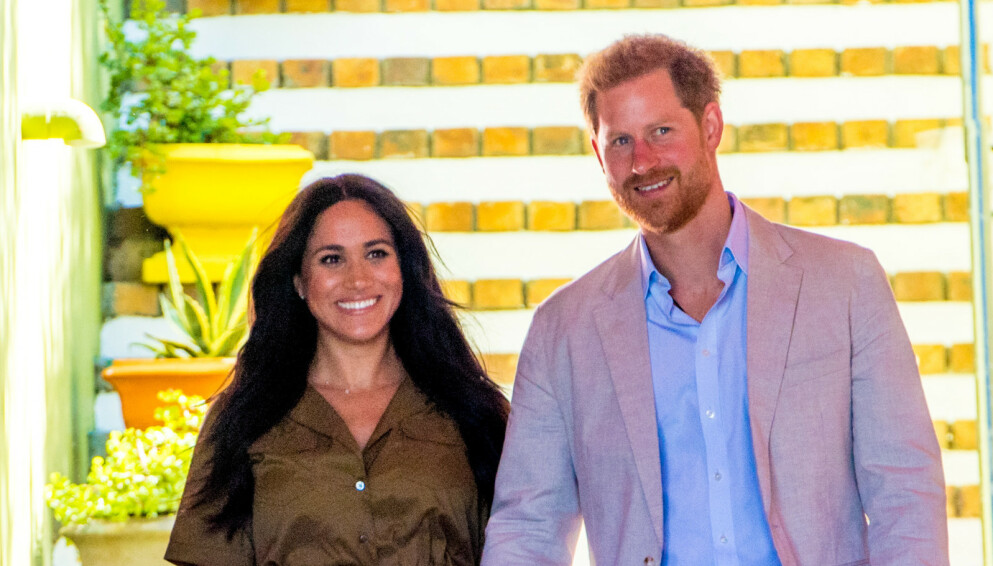BURSDAGSBARN: I dag, onsdag, fyller hertuginne Meghan 40 år. Her med ektemannen prins Harry. Foto: Splash News/NTB