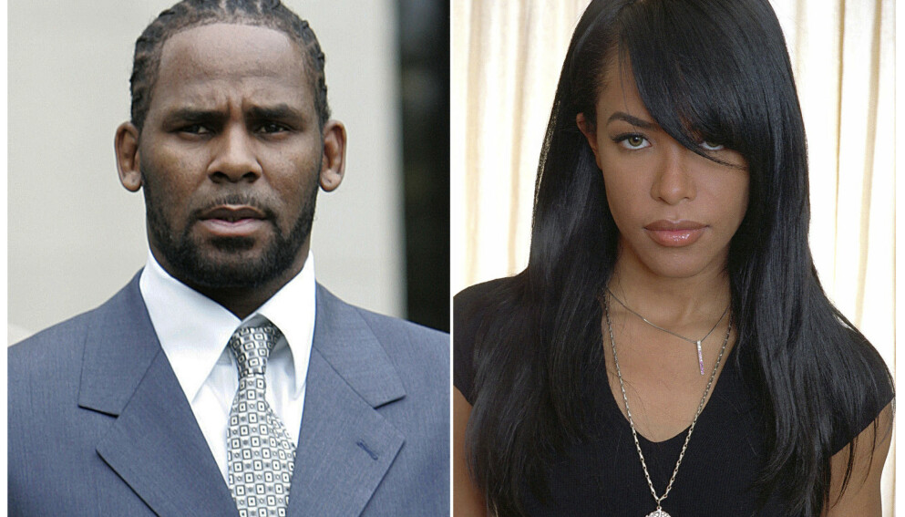 INNRØMMER: R. Kelly (bildet t.v.) innrømmer endelig det som skjedde med Aaliyah (t.h.) for nesten 30 år siden. Foto: AP/ NTB