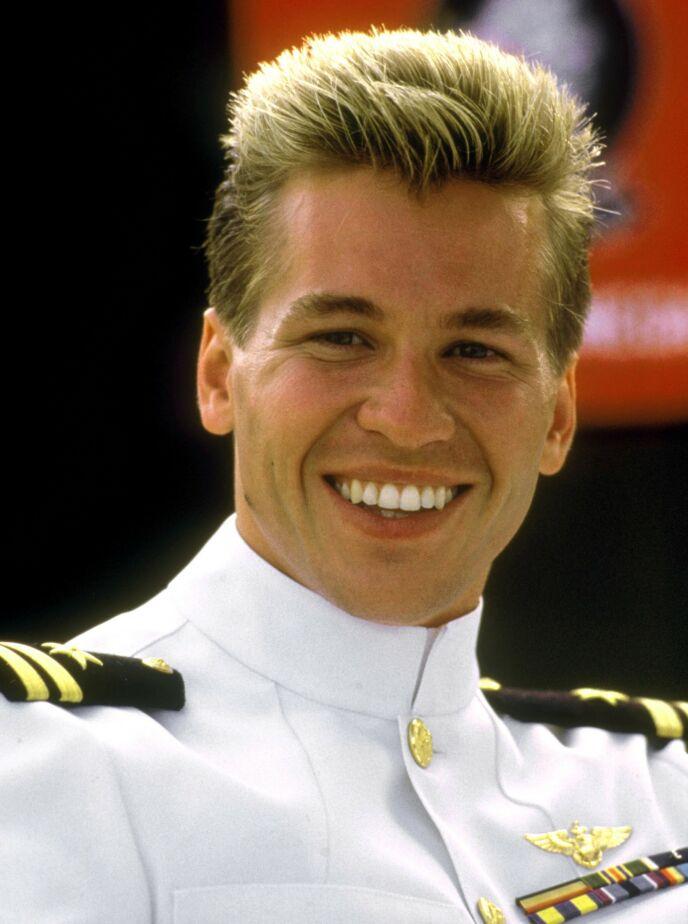 LANG KARRIERE: Mange husker trolig Val Kilmer godt fra hans rolle som Iceman i filmen «Top Gun» fra 1986. Foto: Paramount / Kobal / REX / NTB