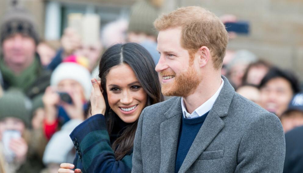 TOBARNSFORELDRE: I juni fikk prins Harry og hertuginne Meghan sitt andre barn sammen. Vi har imidlertid til gode å se et bilde av den lille datteren. Foto: SplashNews/NTB