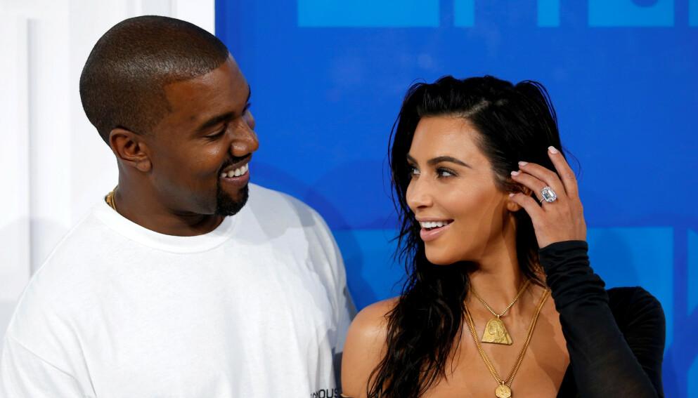 SKILT: Det er fem måneder siden Kim og Kanye skilte lag. Hun støtter imidlertid fremdeles ektemannens musikalske eventyr, denne gang i et litt spesielt antrekk. Her avbildet i 2016. Foto: Eduardo Munoz / Reuters / NTB