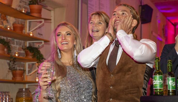 PÅ TV: Agna Hollekve (i midten) var med i «Farmen» i 2019, en sesong der Erik Rotihaug gikk helt til topps etter å ha slått Ingebjørg Monique Haram i finalen. Foto: Tor Lindseth / Se og Hør