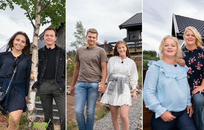 VANT INGEN HYTTE: Christine og Adrian, Jone og Anna, samt Trine og Trude måtte forlate Mjøsli uten en hyttenøkkel i hånda. Foto: TV 2