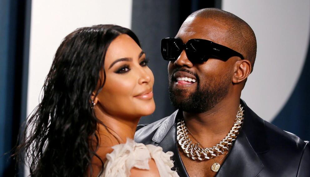 RETT WEST: Kanye West, her sammen med Kim Kardashian, er klar for å skifte navn. Foto: Danny Moloshok / Reuters