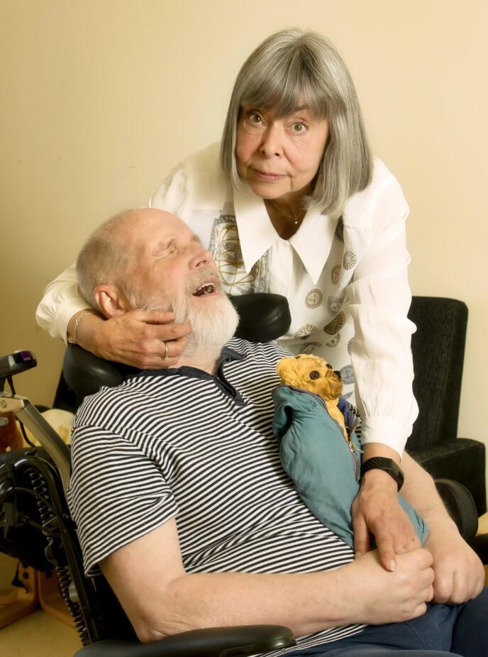 UTSLITT: Inger Johanne var lettet da Magne fikk fast plass på sykehjemmet. Oppgaven som pårørende gjorde henne i en periode så sliten at hun hadde mer enn nok med å overleve. Foto: Svend Aage Madsen / Se og Hør