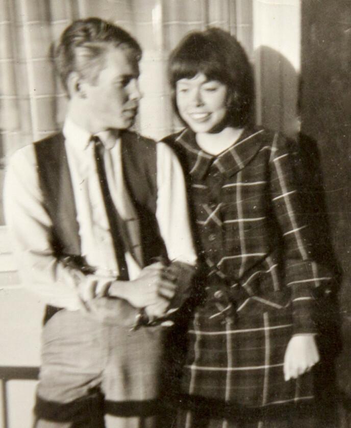 TENÅRINGSKJÆRESTER: Magne og Nanne var i tenårene første gang de ble kjærester. Dette ungdomsbildet er et kjært minne. Foto: Privat