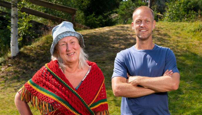 Heidi Persdatter Greiner Haaker sammen med programleder Mads Hansen. Foto: Espen Solli / TV2
