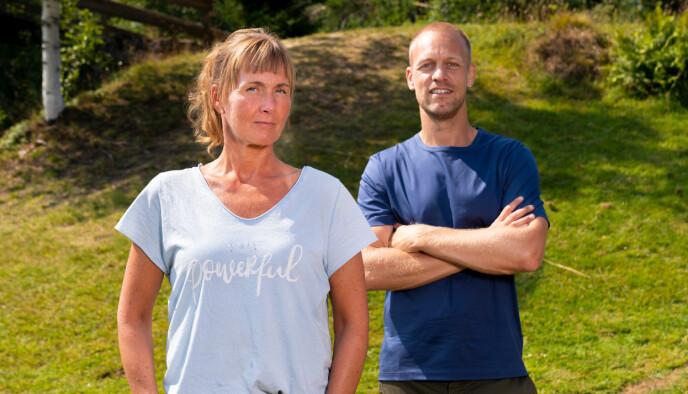 Grethe Enlid og programleder Mads Hansen. Foto: Espen Solli / TV2