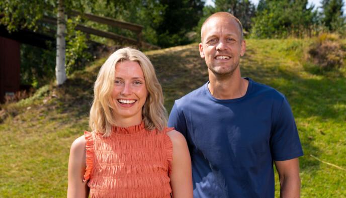 Heidi Lereng sammen med programleder Mads Hansen. Foto: Espen Solli / TV2