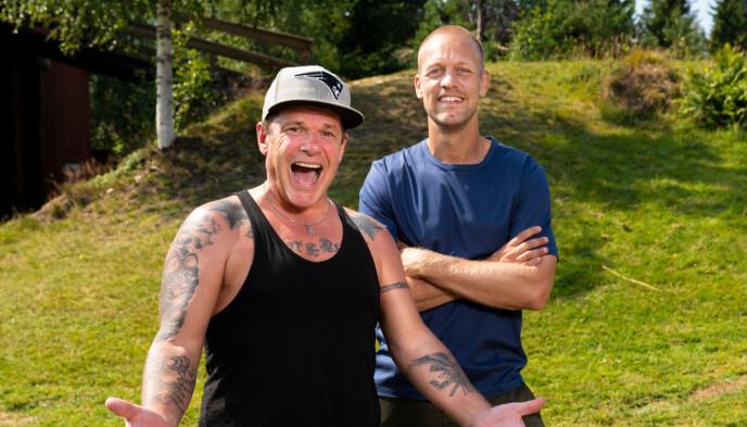 Robert Michael Scott og programleder Mads Hansen. Foto: Espen Solli / TV2