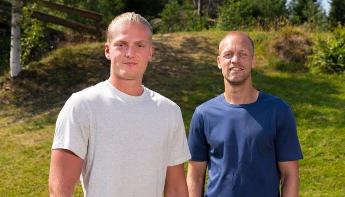 Simon Tronstad Jacobsen og programleder Mads Hansen. Foto: Espen Solli / TV2
