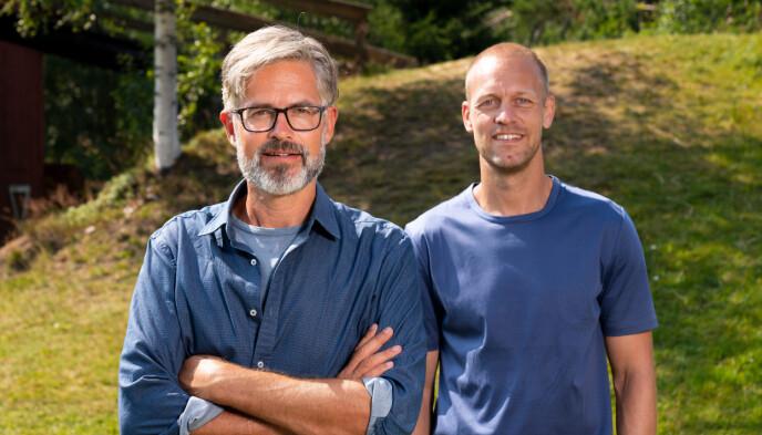Thorvald Nyquist og programleder Mads Hansen. Foto: Espen Solli / TV2
