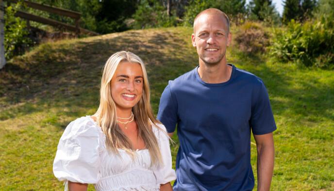 Tonje Frigstad og programleder Mads Hansen. Foto: Espen Solli / TV2