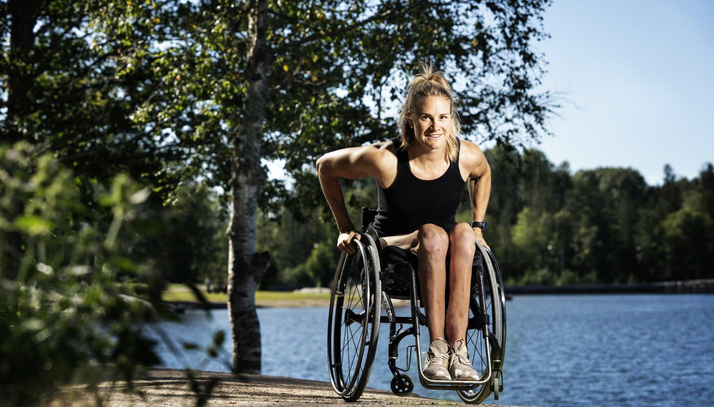 MÅLRETTET: Birgit Skarsteins liv totalforandret seg i 2008, da hun ble lam etter en badeulykke. Det har likevel ikke stoppet pågangsmotet til ro-stjernen. FOTO: Espen Solli