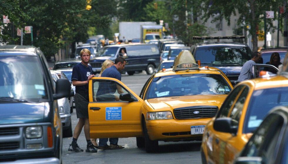 I NEW YORK: Kronprinsparet fotografert i New York sentrum bare dager før to fly krasjet i Twin Towers og flere tusen mennesker mister livet i terrorangrepet. Foto: All Over