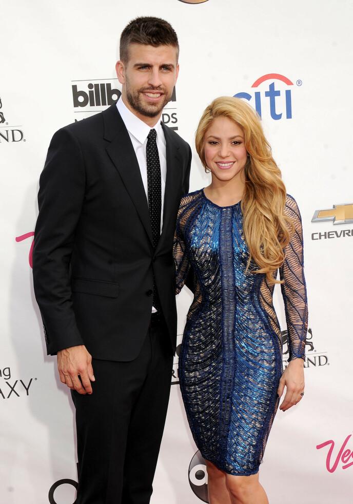 DELTE DETALJER: I 2019 delte Shakira flere detaljer om familielivet sitt. Her er hun avbildet med Gerard Piqué i 2014. Foto: Broadimage / REX / NTB