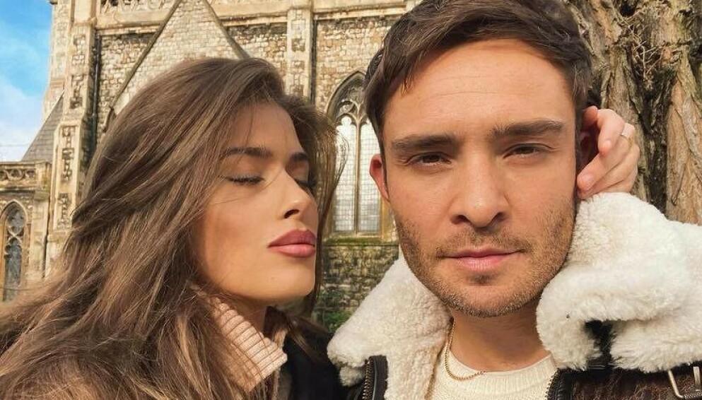 OVER: Tamara Francesconi og Ed Westwick traff hverandre i 2019. Nå skal det være slutt. Foto: Instagram/Tamara Francesconi