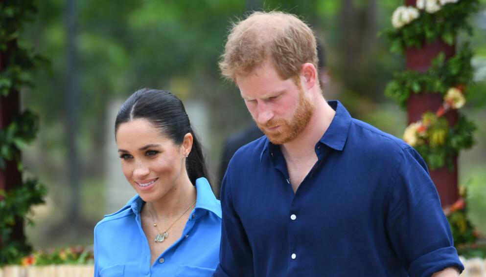 VIL REISE HJEM?: Hertuginne Meghan og prins Harry skal ha kommet med en helt spesiell forespørsel til dronning Elizabeth. Mye kan tyde på at de ønsker å ta en tur hjem til Storbritannia. Foto: Doug Peters/Pa Photos/NTB