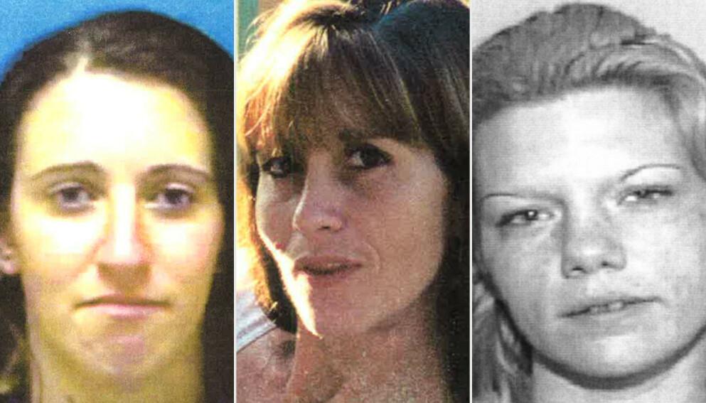 FUNNET DREPT: Drapene på Kimberly Dietz-Lievesey, Sia Demas og Jessica Good har vært uoppklart i to tiår, men nå har deres etterlatte endelig fått svar.