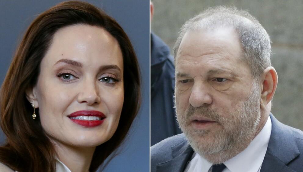 SLÅR TILBAKE: Harvey Weinstein med angrep mot Angelina Jolie fra fengselet. Her fra rettssaken i 2018. Foto: John Angelillo/UPI/Shutterstock/UPI/NTB