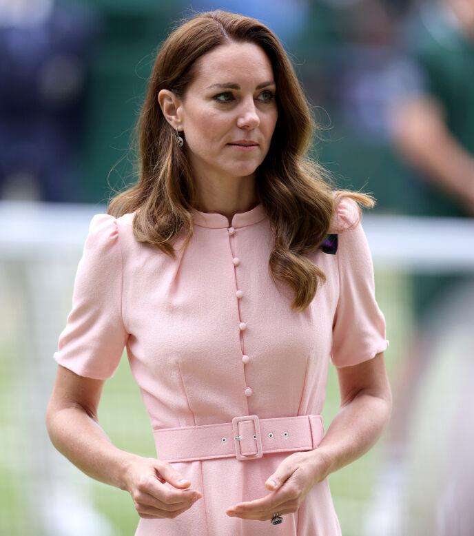 FØR HUN BLE BORTE: Hertuginne Kate i forbindelse med finalen i Wimbledon 11. juli. Foto: Steven Paston/Pa Photos/NTB