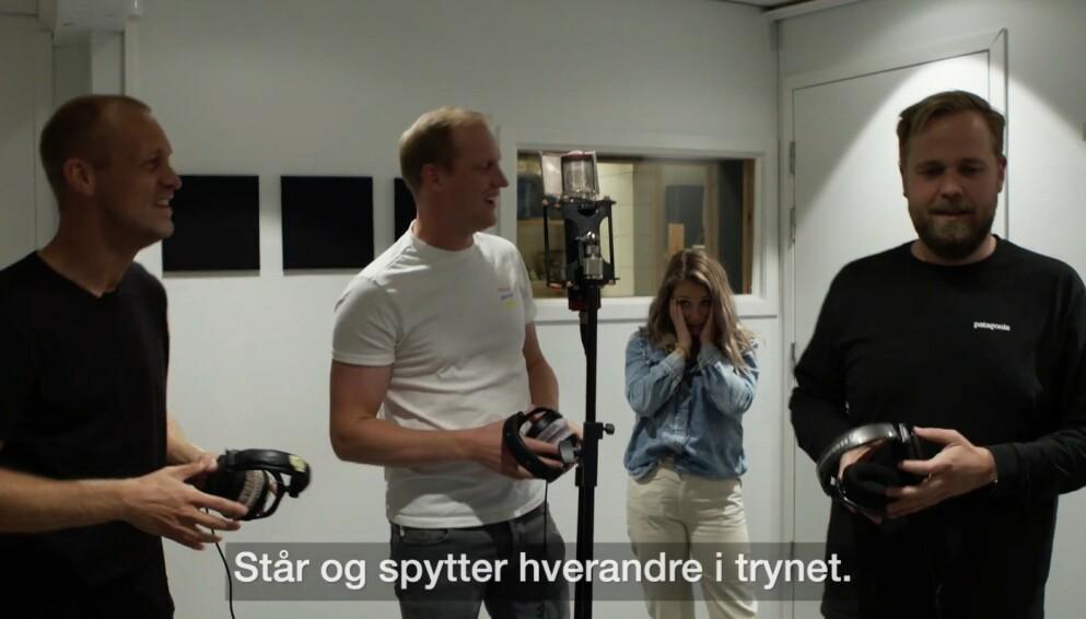 SKAPER REAKSJONER: Flere har reagert på Spårtsklubben-innslaget hvor Ida Fladen tilsynelatende tvinges til å spille inn låt mot sin vilje. Foto: Skjermdump/VGTV