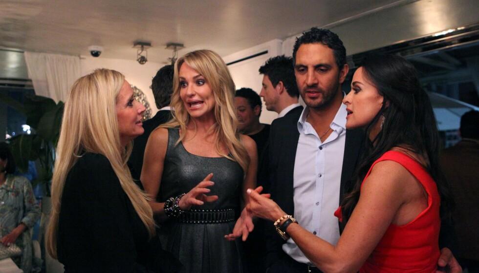REGLER: Høylytt krangling og heftige skilsmisser er hverdagslige gjøremål for fruene i Beverly Hills. Det er imidlertid en rekke regler kvinnene i «The Real Housewives» må følge. Foto: Evolution Media / Kobal / REX / NTB