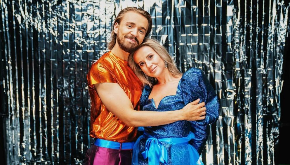 BESTEVENNER: Joakim Kleven og Anniken Jørgensen konkurrerer mot hverandre i «Skal vi danse». Foto: Espen Solli/Dagbladet