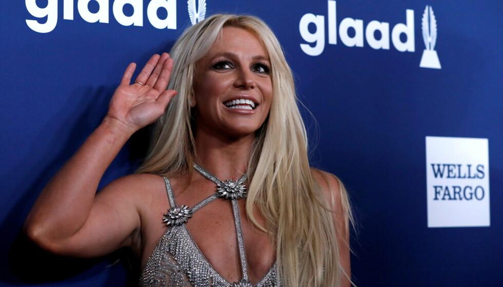 FJERNET PROFILEN: Britney Spears' profil er tirsdag kveld fjernet. Hvorfor vites imidlertid ikke. Foto: Reuters/Mario Anzuoni/File Photo/NTB