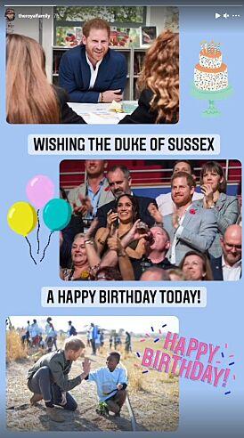 DRONNING-HILSEN: Dronning Elizabeth markerte naturligvis barnebarnets bursdag. Foto: Skjermdump fra Instagram