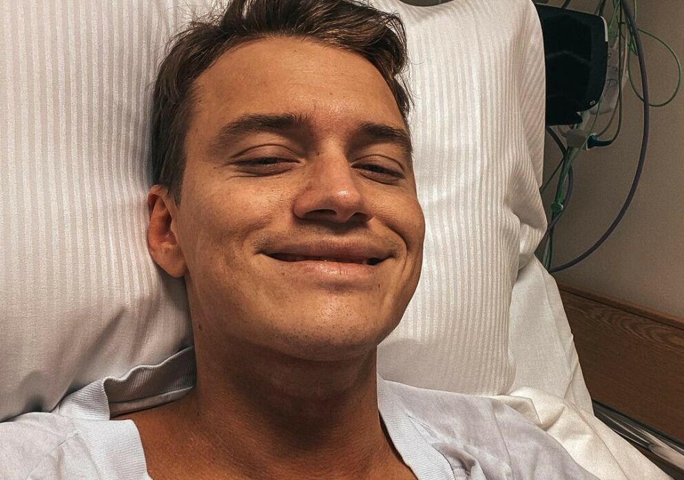 OPERERT: Henrik Elvejord Borg skadet seg stygt for et par år siden. Onsdag ble han operert. Foto: Privat, gjengitt med tillatelse