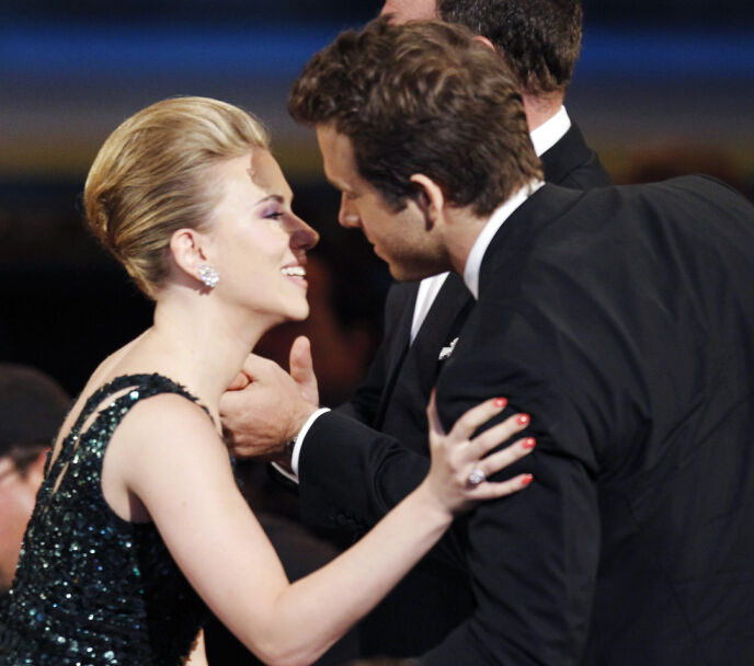 DEN GANG DA: Scarlett og Ryan under Tony awards i 2010. Foto: Gary Hershorn/Reuters/NTB