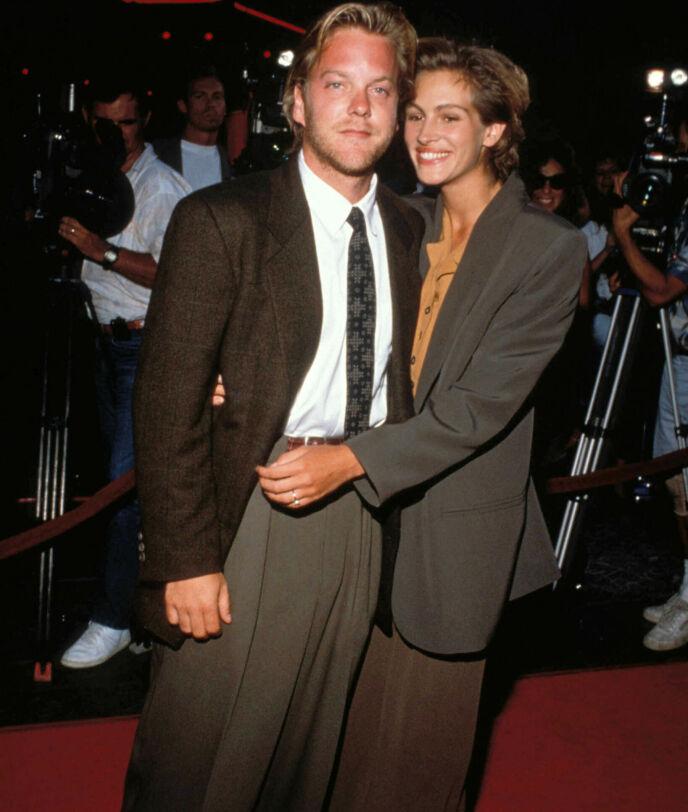 DRAMA: Kort tid før Kiefer og Julia skulle gifte seg, ble førstnevnte observert mens han flyttet ut av parets hjem. Her sammen i 1990. Foto: Ralph Dominguez/MediaPunch/Shutterstock/NTB
