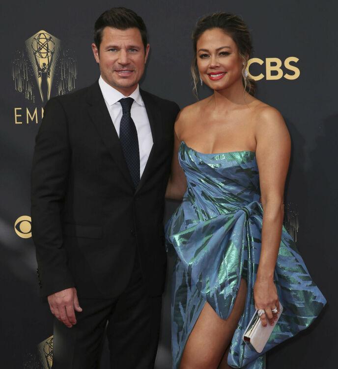 EKTEPAR: Nick Lachey og Vanessa Lachey. Foto: Danny Moloshok / Invision for Television Academy / AP Images / NTB
