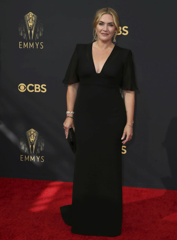 SORT: Skuespiller Kate Winslet. Foto: Danny Moloshok/Invision for Television Academy/AP Images / NTB