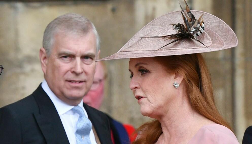 - BLE IGJEN: Prins Andrew skal ikke ha blitt med kona, Sarah Ferguson, for å møte sitt nyfødte barnebarn. Foto: Tim Rooke/REX/NTB