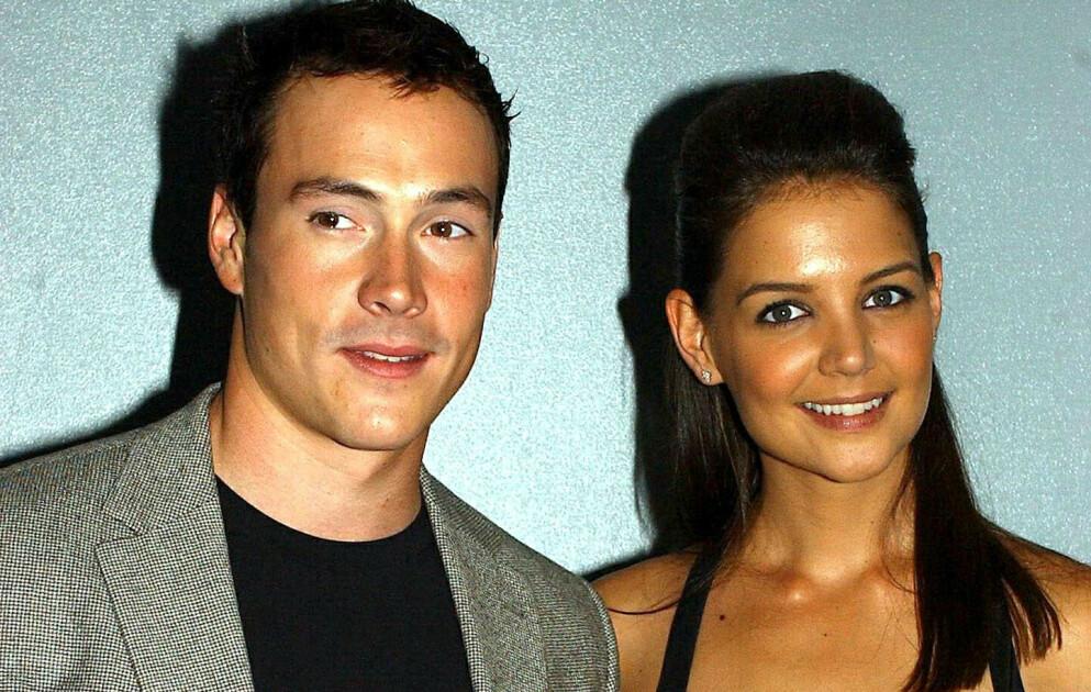 KJENDISPAR: Chris Klein og Katie Holmes er bare noen av kjendisene som har vært sammen. Her i 2003. Foto: Shutterstock Editorial / NTB