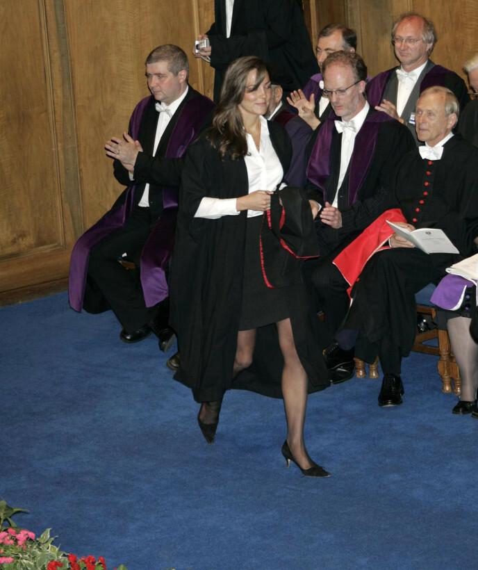 STUDENT: Kate studerte på St. Andrew universitetet i Skottland, hvor også prins William var student. Foto: NTB
