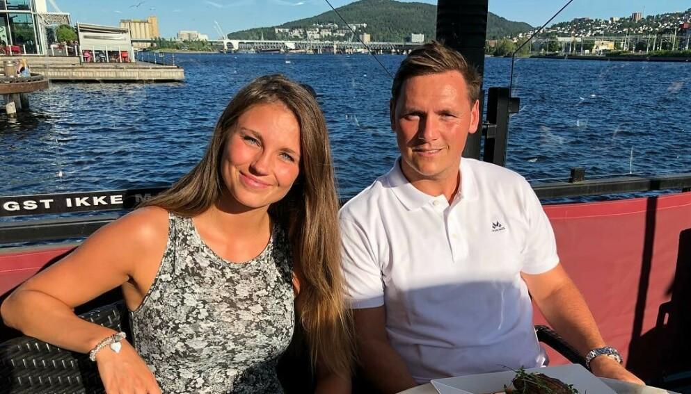 FIKK EN DATTER: Camilla Groth og Joakim Hykkerud er stolte foreldre til en liten jente. Foto: Skjermdump Instagram.