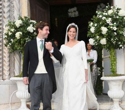 Image: Strålte i kongelig bryllup