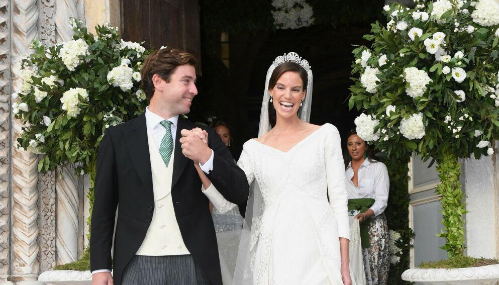 EKTEPAR: Ralp Worthington og prinsesse Marie-Astrid giftet seg i et storslått bryllup i helgen. Foto: Frank Rollitz/Schneider-P/SIPA/Shutterstock/NTB